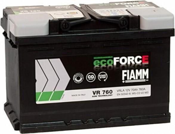 FIAMM START-STOP VR760 ECOFORCE_AGM 12V-70Ah