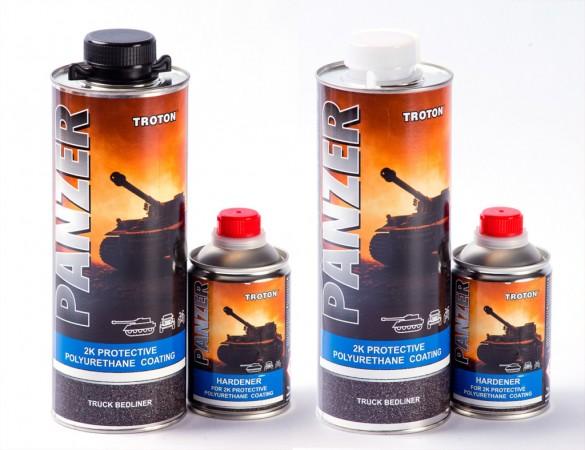 Высокопрочное полиуретановое защитное покрытие со структурным эффектом PANZER 1L Черный