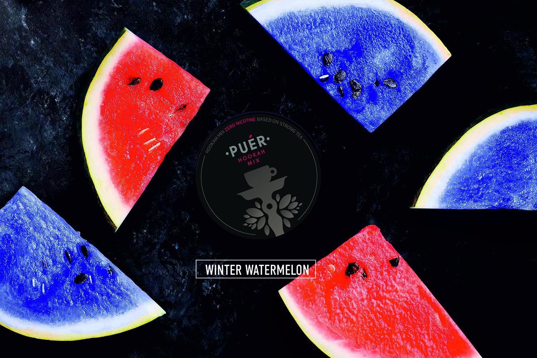 Winter Watermelon / Холодящий Арбуз  / Rece Pepene Verde Puer Hookah Mix 02
